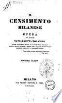 Il censimento milanese opera del dottor Natale Cotta Morandini