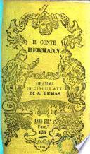 Il conte Hermann dramma in cinque atti di Alessandro Dumas