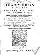 Il Decameron Di Messer Giovanni Boccaccio Cittadin Fiorentino