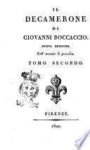 Il decamerone di Giovanni Boccaccio. Nuova edizione. Coll'accento di prosodia. Tomo primo [- quinto]