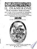 Il diamerone di m. Valerio Marcellino