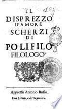 Il disprezzo d'amore scherzi di Polifilo filologo