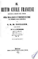 Il dritto civile francese secondo l'ordine del codice