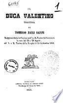 Il duca Valentino tragedia di Tommaso Zauli Sajani