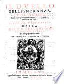Il duello dell'ignoranza e della scienza, Fatto principalmente nel campo Filosofico diviso in due parti sceptica e dogmatica