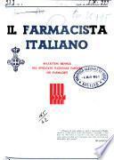 Il farmacista italiano bollettino ufficiale mensile del Sindacato nazionale fascista dei farmacisti