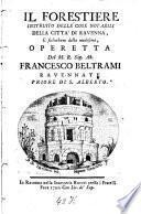 Il forestiere instruito delle cose notabili della città di Ravenna e suburbane della medesima