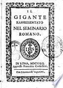 Il gigante rappresentato nel Seminario Romano