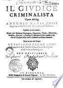 Il giudice criminalista