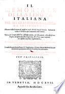 Il memoriale della lingua italiana ... ridotto in ordine d'alfabeto ... In questa seconda impressione vi e il supplimento o giunta d'autori moderni (etc.)