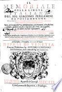 Il Memoriale Della Lingva Italiana
