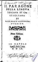 Il paragone della lingua toscana et castigliana