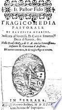 Il pastor fido tragicomedia pastorale di Battista Guarini ... Di nuouo corretto, & di vaghe figure ornato