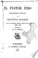 Il pastor fido tragicommedia pastorale di Battista Guarini