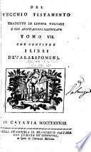 Il Pentateuco; o sia, i cinque libri di Mosè