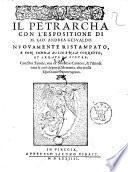 Il Petrarcha con l'espositione di m. Gio. Andrea Gesualdo
