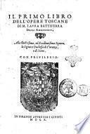 Il primo libro dell'opere toscane di M. Laura Battiferra degli Ammannati, ..