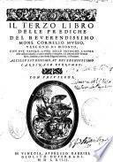 Il primo [-terzo] libro delle Prediche del ... Mons. Cornelio Musso ...