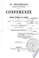 Il progresso per mezzo del Cristianesimo conferenze di Nostra Signora di Parigi