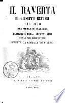 Il Raverta di Giuseppe Betussi dialogo nel quale si ragiona d'amore e degli effetti suoi