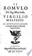 Il Romvlo Del Sig. Marchese Virgilio Malvezzi