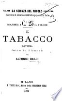Il Tabacco. Lettura, etc