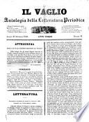 Il vaglio antologia delle letteratura periodica