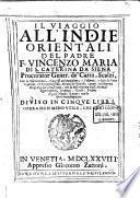 Il viaggio all'Indie orientali del padre F. Vincenzo Maria di S. Caterina da Siena ...