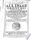 Il viaggio all'Indie orientali del padre f. Vincenzo Maria di s. Caterina da Siena