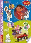 Il viaggio di Arlo-Inside Out-Big Hero 6-Coco. Mega. Staccattacca & colora. Con adesivi. Ediz. a colori
