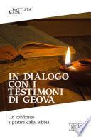 In dialogo con i Testimoni di Geova