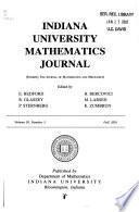 Indiana University Mathematics Journal
