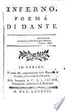 Inferno (Purgatorio, Paradiso).