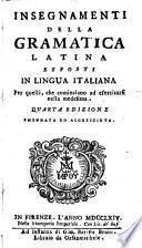 Insegnamenti della grammatica latina