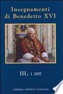 Insegnamenti di Benedetto XVI.