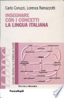 Insegnare con i concetti la lingua italiana
