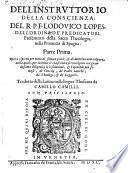 Instruttorio della conscienza. Opera ... tradotta dalla latina nella lingua thoscana da Camillo Camilli