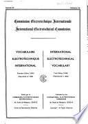 International electrotechnical vocabulary