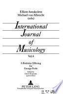 International Journal of Musicology