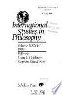 International Studies in Philosophy