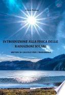 Introduzione alla fisica delle radiazioni solari