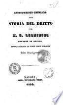 Introduzione generale alla storia del dritto [!] per M. E. Lerminier