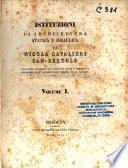Istituzioni di architettura statica e idraulica di Nicola Cavalieri San-Bertolo ... volume 1. [-2.]