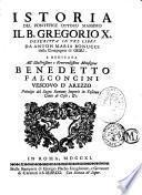 Istoria del Pontifice Ottimo Massimo il B. Gregorio X
