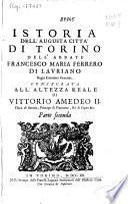 Istoria dell'augusta citta di Torino