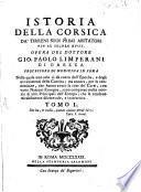Istoria Della Corsica Da' Tirreni Suoi Primi Abitatori Fin Al Secolo XVIII