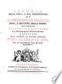 Istoria della vita, e del pontificato di S. Gregorio magno papa, e dottore della chiesa