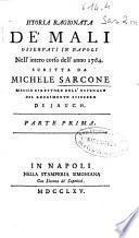 Istoria ragionata de' mali osservati in Napoli nell' intero corso dell' anno 1764