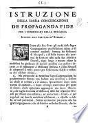 Istruzione della Sagra Congregazione de Propaganda Fide per i missionarij della Bulgaria intorno alla prattica de' Kurbani