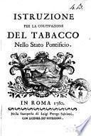 Istruzione per la coltivazione del tabacco nello Stato Pontificio